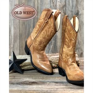 Old West Narrow J Toe Boot - Youth (Children's)